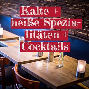 Kalte und heisse Spezialitaeten und Cocktails